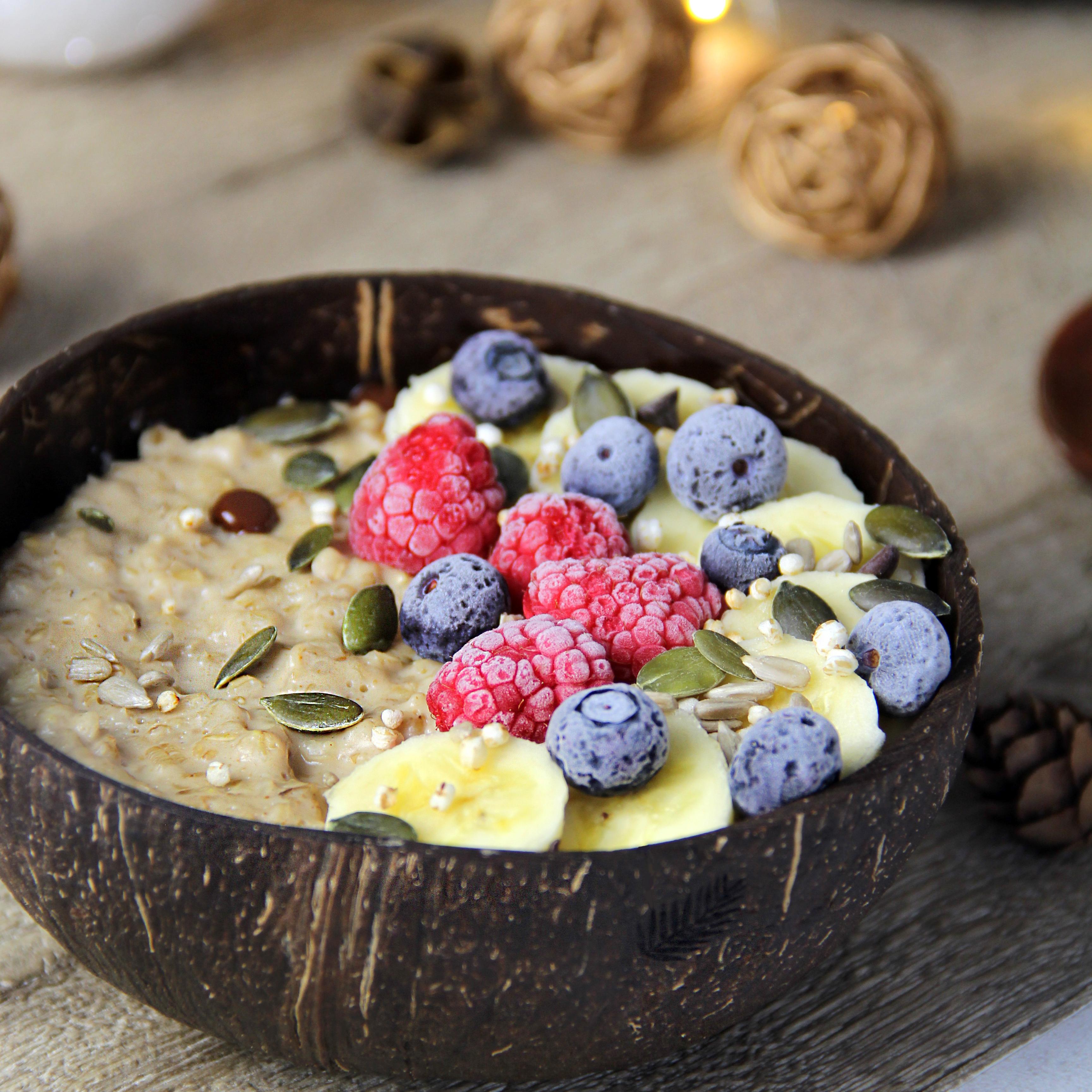 porridge bols en noix de coco