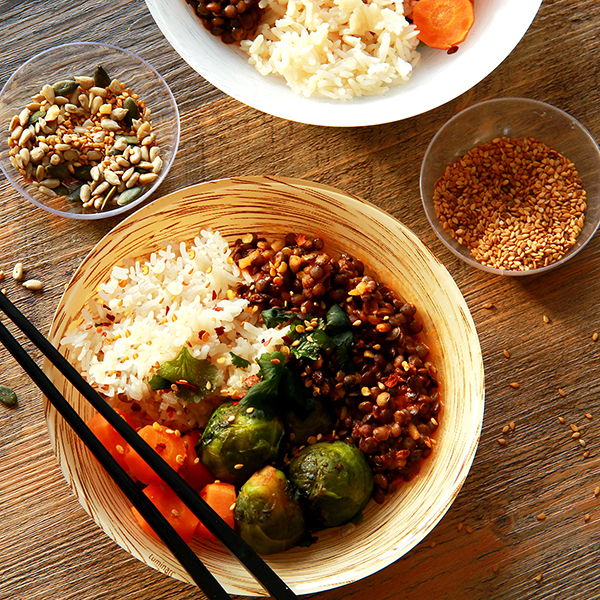 Bowl riz végétarien rice cooker